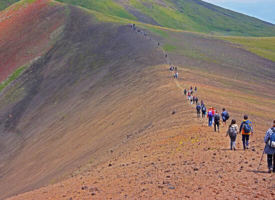 Climbing Mount Azhdahak, 3597m