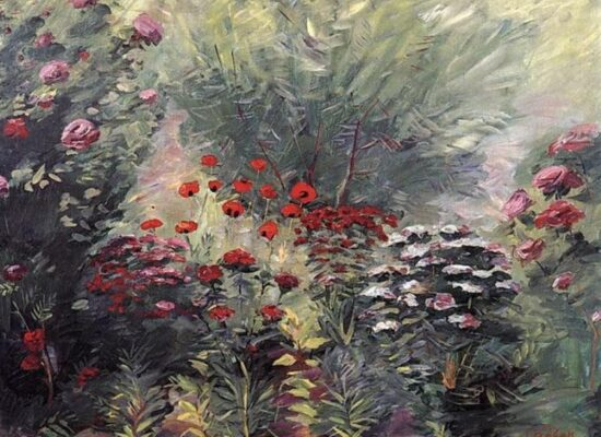 Flowers. A nook of the garden, 1940.
