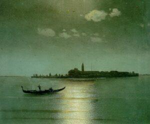 St. Lazarus Island at Night (Venice)