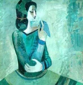 Girl with a scarf, Minas Avetisyan