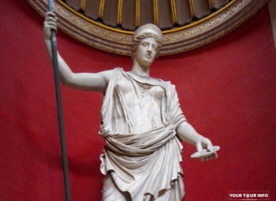 The Barberini Hera, Roman Copy after a Greek Original. Museo Pio-Clementino