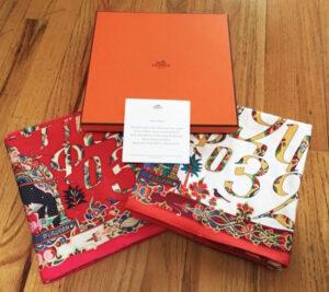Hermes Armenian Letters Scarf