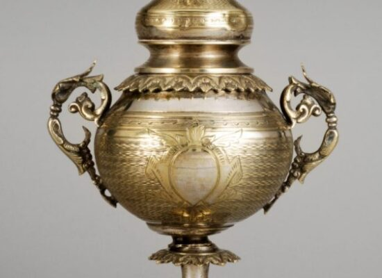 Incense Burner, Vermeil embossed and chiseled , 19th century, Work of the Aznavourian silversmith, Musée Arménien de France