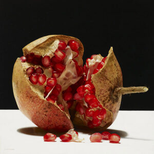 """Painting """"Interno Rosso"""". Hyperrealism."""