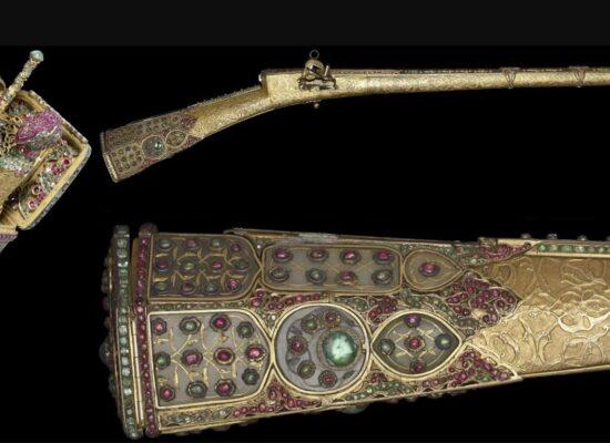 Jeweled Ceremonial Gun of Sultan Mahmud I Crafted by Hovhannes Agha Düz