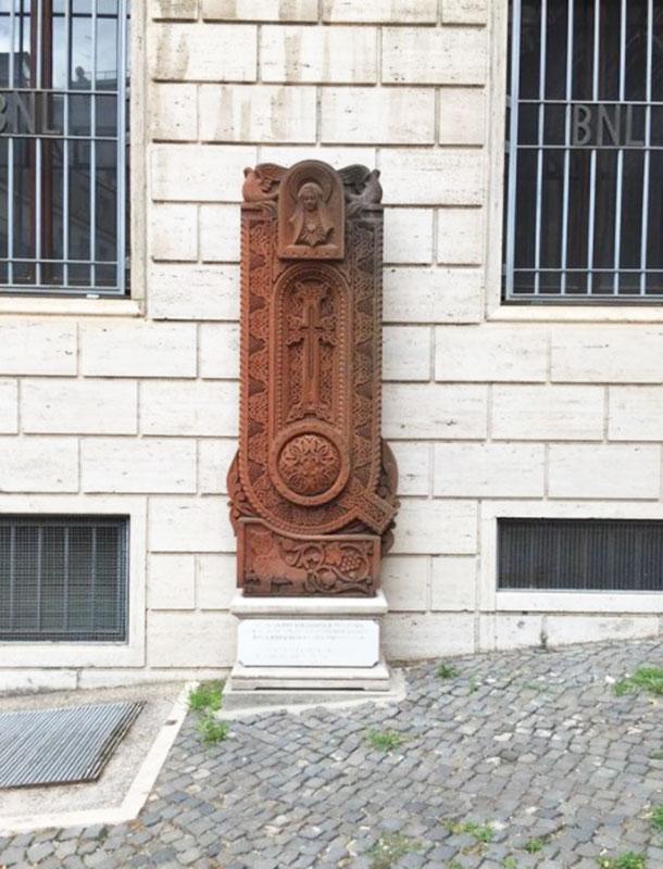 Armenian Cross Stone near Chiesa di San Nicola da Tolentino