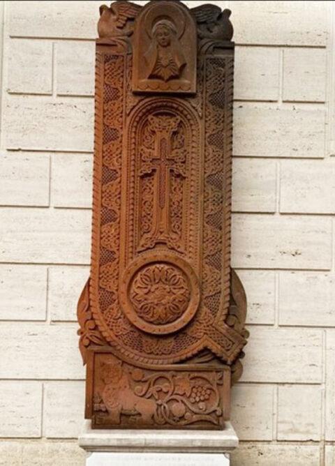 Armenian Cross Stone near Armenian Church Chiesa di San Nicola da Tolentino