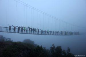 Swinging bridge, Khdzoresk, Syuniq Province.