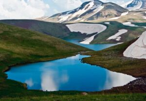 Lake Akna or Aknalich, 3,032 m, Kotayk Province