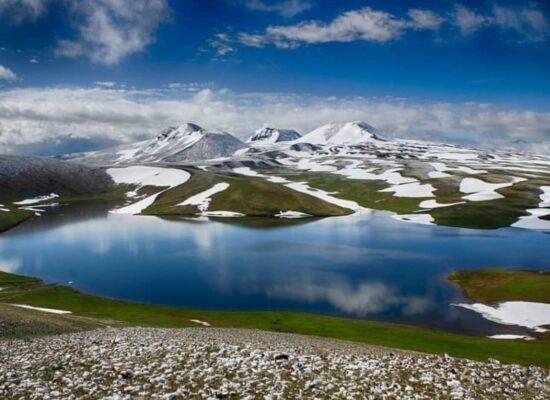 Lake Kari (Lake Qari), located on the slopes of Mount Aragats
