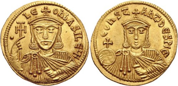 Leo V the Armenian with Constantine, AD 813-820