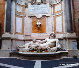 Marforio or Marphurius - Roman Marble Sculpture of Sea God, 1st century, Palazzo Nuovo, Capitoline Museum.