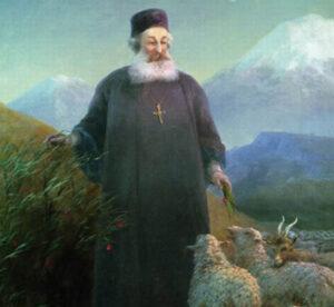 Mkrtich Khrimian near Echmiadzin. 1885.