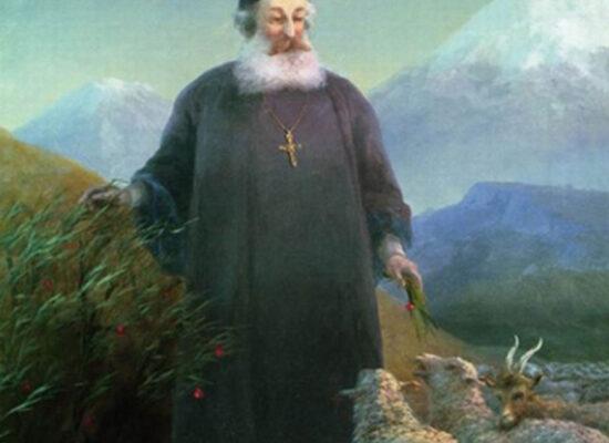 Mkrtich Khrimian near Echmiadzin, 1885