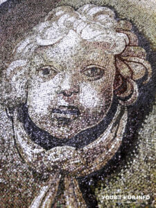 Mosaic of an Angel in the Dome of St. Peter's Basilica.