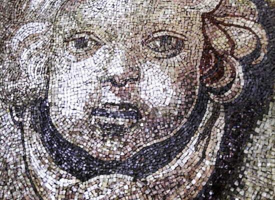 Mosaic of an Angel in the Dome of St. Peter's Basilica