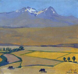 Mount Aragats at Summer, 1922.