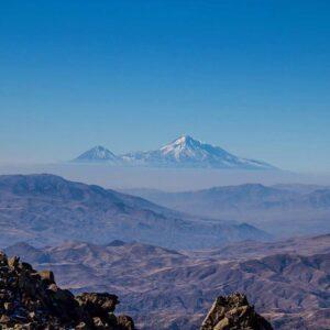 Mt. Ararat, 5,137 m, from Mt. Amulsar, 2,300 m, Vayots Dzor Province