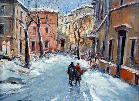 Nevicata, Palazzo Donn Anna Posillipo, Ciro Canzanella