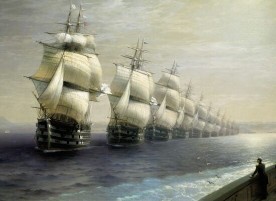 Parade of the Black Sea Fleet, 1886.