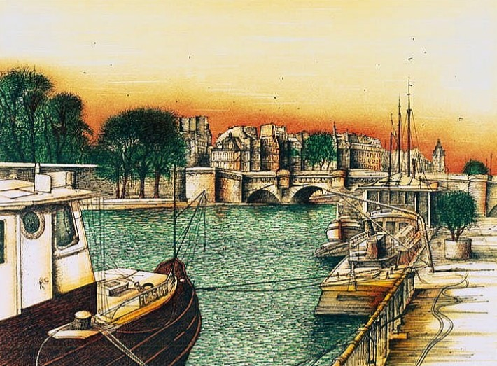 Ca s'est passé en août ! Paris-sur-Seine.-Vevey-u.-Paris-Ed.-Trinckvel-u.-Francony-1986.