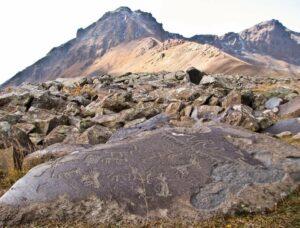Petroglyphs, Ukhtasar Mountain, 3,300 m, Syunik Province