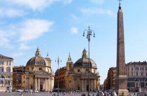 Piazza del Popolo, Two Twin Churches- Santa Maria dei Miracoli and Santa Maria di Montesanto