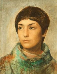Portrait of Maria Ricciarda, Pietro Annigoni,1970.