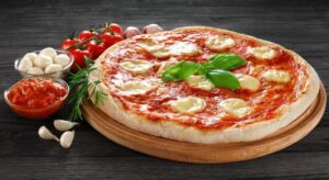 Pizza Margherita - tomato sauce, mozzarella, basil
