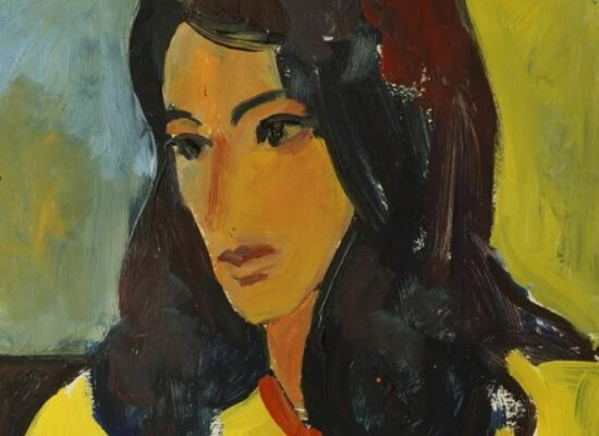 Portrait of woman in yellow, Minas