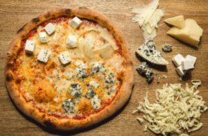 Quattro formaggi - mozzarella, fontina, gorgonzola and parmigiano