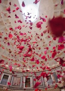 Rain from the Rose Petals in the Pantheon, Rome