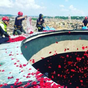 Rain from the Rose Petals,Top of the Pantheon, Rome