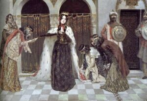 Return of the Queen Zabel to the Throne, 1909