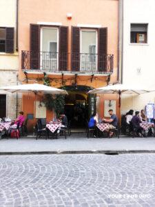 Trattoria in Rome.