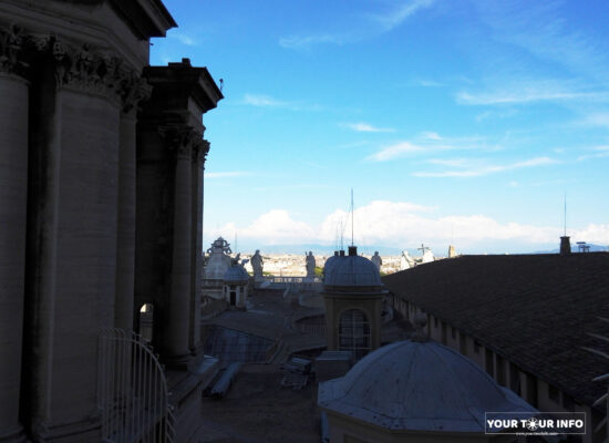 Roof of St. Peter's Basilica.