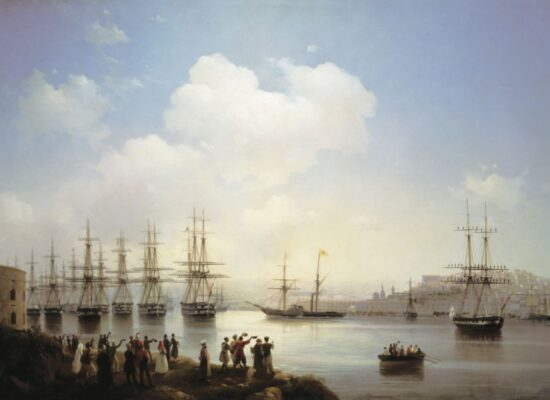 Russian Squadron on the Raid of Sevastopol, 1846.
