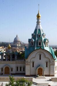 Russian Orthodox Church of Saint Catherine the Great Martyr, Villa Abamelek, 77/79 Via del Lago Terrione.