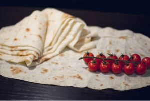 Lavash with Cherry Tomatoes