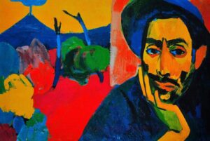Self-portrait in the workshop, Minas Avetisyan