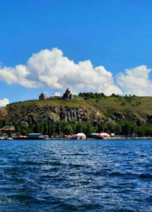 Lake Sevan and Sevanavank Monastery Complex.