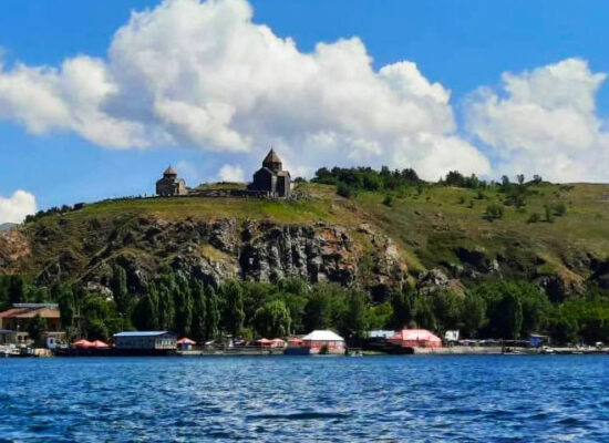 Lake Sevan and Sevanavank Monastery Complex.