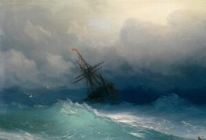 Ship in the Stormy Sea, 1887