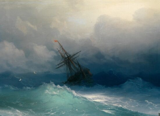 Ship in the Stormy Sea, 1887.