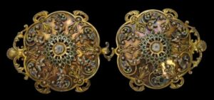 Silver-Gilt Belt Buckle with Polychrome Enamel & Filigree, 18th century
