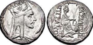 Silver Tetradrachm of Tigranes the Great-, 95-56-B.C.