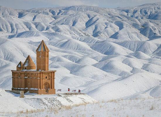 Sohraqeh Church, Iran, winter