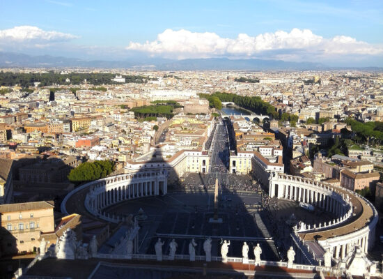 St. Peter's Square as seen from the Dome.