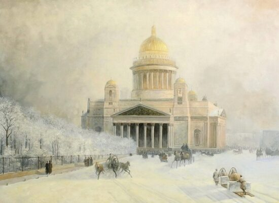 St. Isaac's Cathedral on a frosty day, 1891