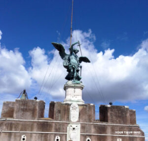 Statue of Archangel Michael on Top of The Mausoleum of Hadrian, Castel Sant'Angelo